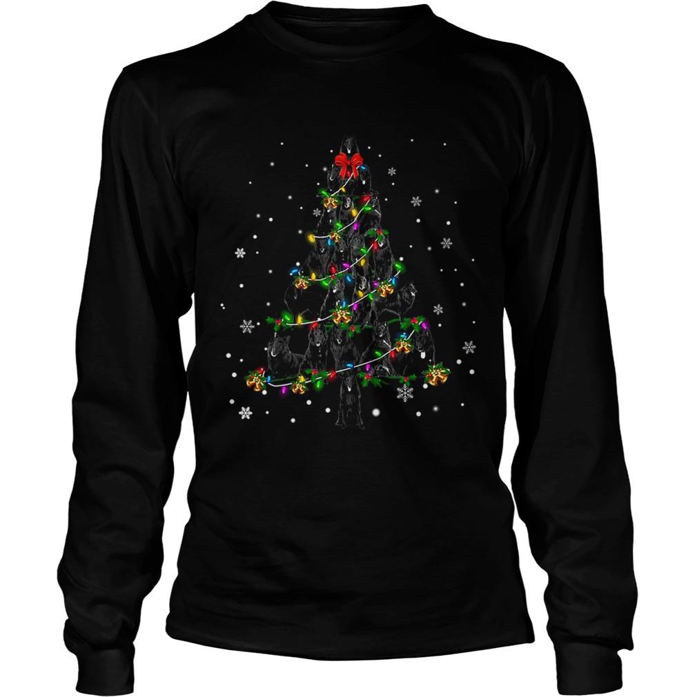 Groenendael Christmas Tree TShirt LongSleeve