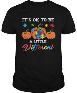 Halloween Autism Pumpkin Its OK to be a little different TShirt Unisex