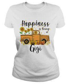 Halloween Car Pumpkin Happiness Is Being A Gigi TShirt Classic Ladies