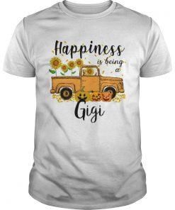 Halloween Car Pumpkin Happiness Is Being A Gigi TShirt Unisex