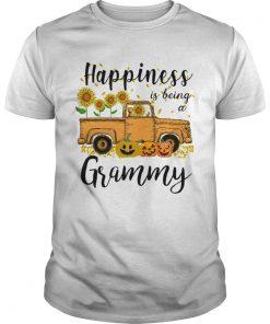 Halloween Car Pumpkin Happiness Is Being A Grammy TShirt Unisex