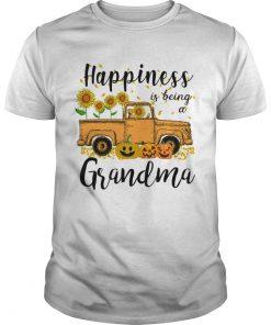 Halloween Car Pumpkin Happiness Is Being A Grandma TShirt Unisex