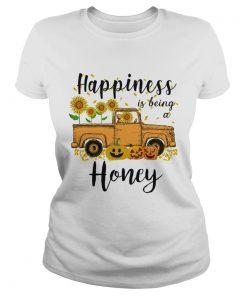 Halloween Car Pumpkin Happiness Is Being A Honey TShirt Classic Ladies