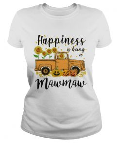 Halloween Car Pumpkin Happiness Is Being A Mawmaw TShirt Classic Ladies
