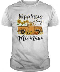 Halloween Car Pumpkin Happiness Is Being A Meemaw TShirt Unisex