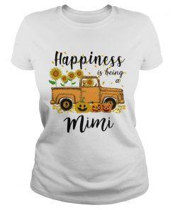 Halloween Car Pumpkin Happiness Is Being A Mimi TShirt Classic Ladies