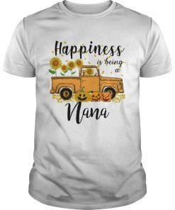 Halloween Car Pumpkin Happiness Is Being A Nana TShirt Unisex