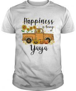Halloween Car Pumpkin Happiness Is Being A Yaya TShirt Unisex
