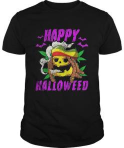 Halloween Happy Halloweed Rasta Pumpkin Marijuana Weed 420  Unisex