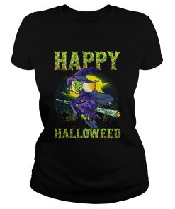 Halloween Happy Halloweed Witch Marijuana Weed 420 Women  Classic Ladies