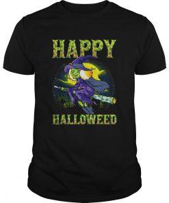 Halloween Happy Halloweed Witch Marijuana Weed 420 Women  Unisex