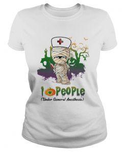 Halloween I Love People Funny Nurse TShirt Classic Ladies