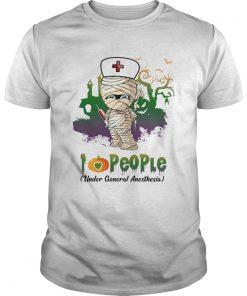 Halloween I Love People Funny Nurse TShirt Unisex