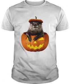 Halloween Otter Pumpkin Funny Otter Lover TShirt Unisex