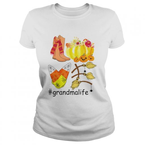 Halloween Pumpkin Love Grandmalife Grandma Life TShirt Classic Ladies