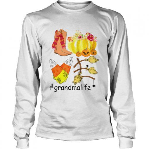 Halloween Pumpkin Love Grandmalife Grandma Life TShirt LongSleeve