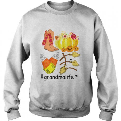Halloween Pumpkin Love Grandmalife Grandma Life TShirt Sweatshirt