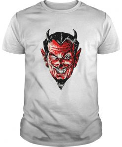 Halloween Red Devil Head  Unisex