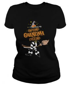 Halloween This Is My Awesome Grandma Costume Shirt Classic Ladies