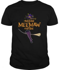 Halloween This Is My Awesome Meemaw Costume TShirt Unisex