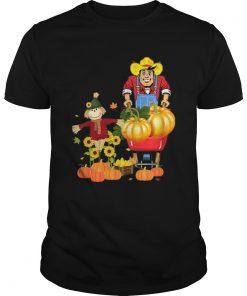 Happy Harvest Scarecrow Pumpkin Patch Novelty TShirt Unisex