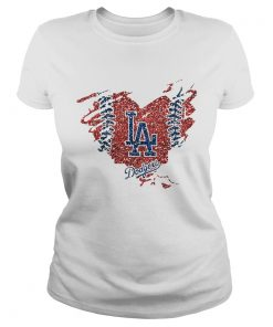 Heart Diamond Los Angeles Dodger Shirt Classic Ladies