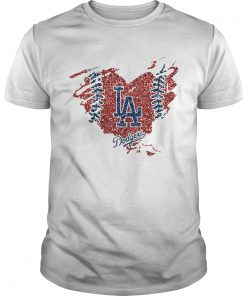 Heart Diamond Los Angeles Dodger Shirt Unisex