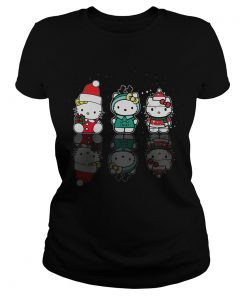 Hello Kitty Christmas Reflection Mirror Water Shirt Classic Ladies