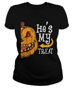 Hes My Trick Funny Halloween women Matching couples  Classic Ladies