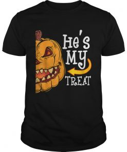 Hes My Trick Funny Halloween women Matching couples  Unisex