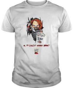 Hi Im Chucky Wanna Drink Miller Lite Halloween  Unisex
