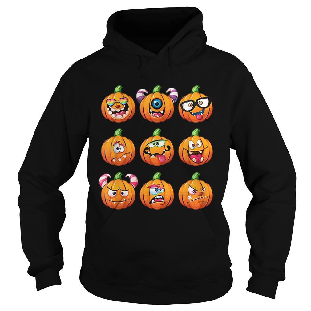 Grimmy Halloween Pumpkin Mens Hooded Sweatshirt