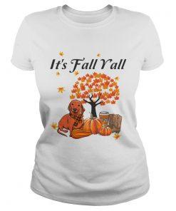Its Fall Yall Dachshund Halloween Funny Dog Lover TShirt Classic Ladies