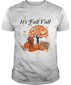 Its Fall Yall Dachshund Halloween Funny Dog Lover TShirt Unisex