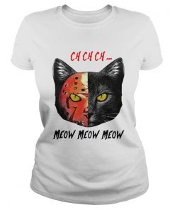 Jason Voorhees Black Cat Ch Ch Ch Meow Meow Meow  Classic Ladies