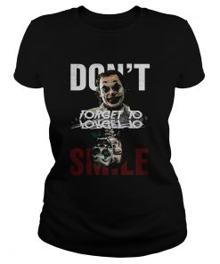 Joker dont forget to smile water mirror Joaquin Phoenix shir Classic Ladies