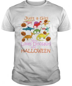 Just Girl Who Loves Dinosaurs and Halloween Pumpkin  Unisex