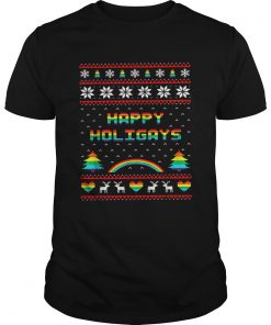 LGBT Happy holigays rainbow Christmas  Unisex