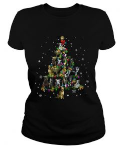 Lurcher Christmas Tree TShirt Classic Ladies