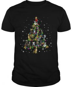 Lurcher Christmas Tree TShirt Unisex