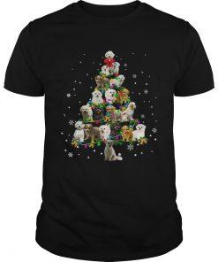Maltipoo Christmas Tree TShirt Unisex