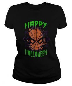Marvel SpiderMan Mask Happy Halloween Graphic  Classic Ladies