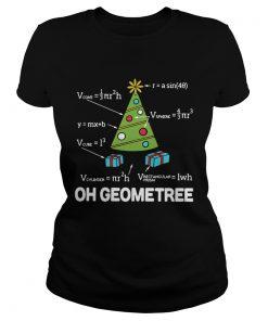 Math Geometry Christmas Tree Geometree Teacher Shirt Classic Ladies