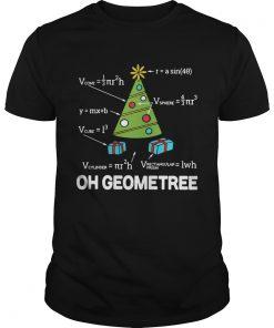 Math Geometry Christmas Tree Geometree Teacher Shirt Unisex