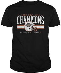 Miami Football Tank Bowl Champs 2020 t Unisex