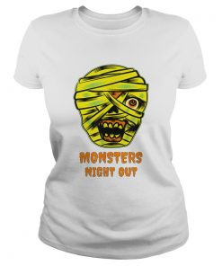 Monsters Night Out with Mummies Funny Easy Halloween Costume  Classic Ladies