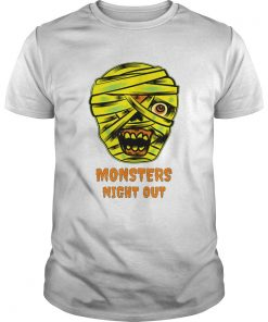 Monsters Night Out with Mummies Funny Easy Halloween Costume  Unisex