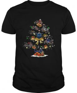 Motorcycle Christmas Tree Shirt Unisex