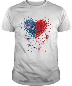 New England Patriots And Boston Red Sox Tiny Hearts Shape Shirt Unisex