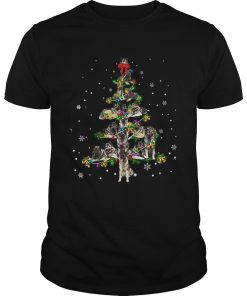 Norwegian Elkhound Christmas Tree TShirt Unisex